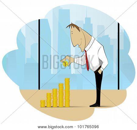 Successfull businessman and his treasure
