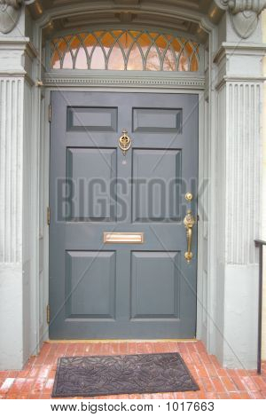 Blue And Gray Doorway