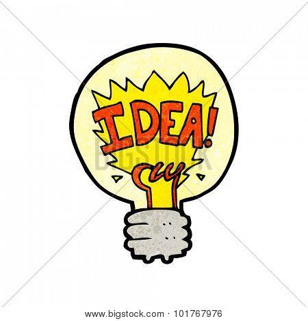 cartoon idea light bulb symbol
