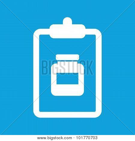 Medicine prescription icon, simple