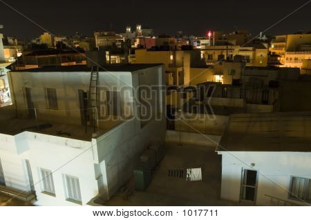 city of heraklion iraklion on crete cityscape at night poster