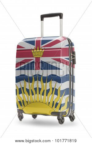 Suitcase With Canadian Territory Or Province Flag Series - British Columbia