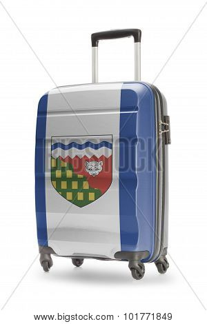 Suitcase With Canadian Territory Or Province Flag Series - Northwest Territories