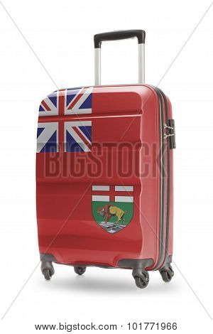 Suitcase With Canadian Territory Or Province Flag Series - Manitoba