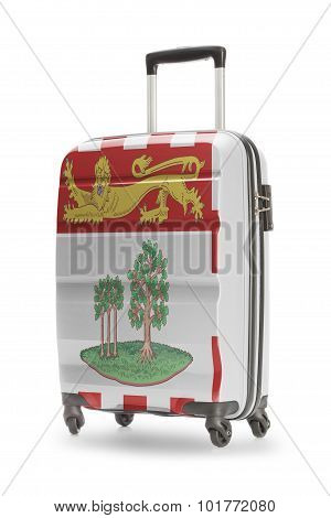 Suitcase With Canadian Territory Or Province Flag Series - Prince Edward Island