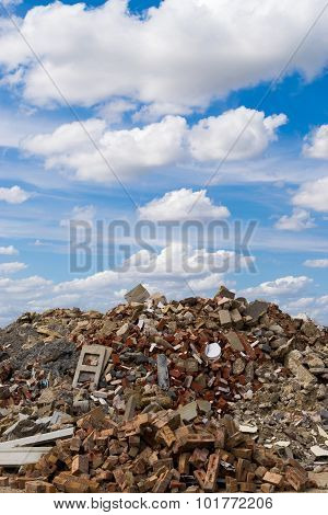Rock Rubble And Blue Sky
