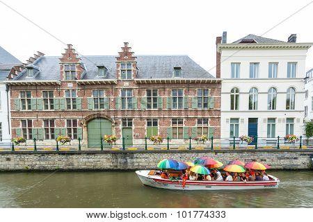Tourist Boat In Ghent, Belgium