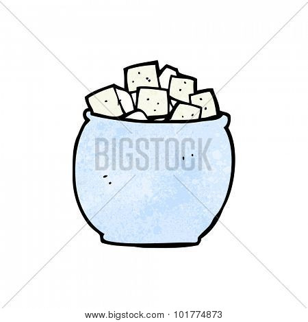 cartoon sugar cubes