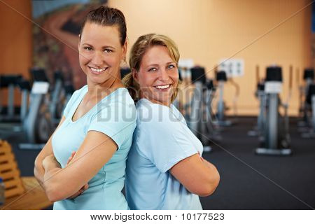 Women Smiling In Gym