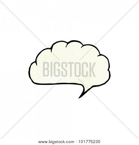 cartoon speech balloon cloud