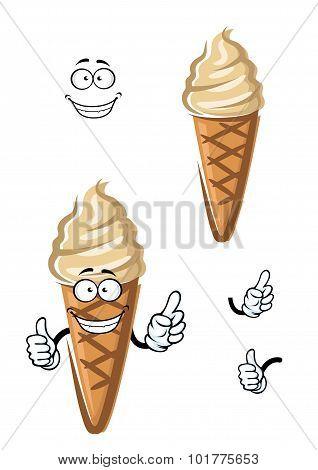 Cartoon caramel ice cream dessert