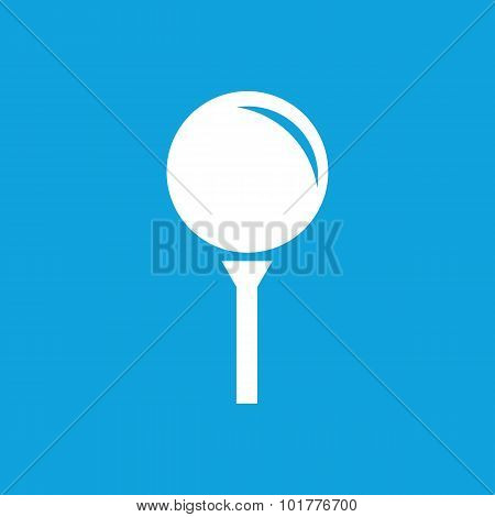 Golf ball icon, simple