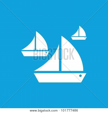 Sailing icon, simple