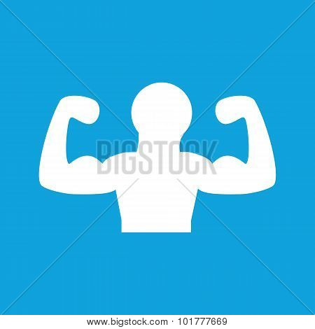 Muscular person icon, simple