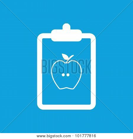 Diet prescription icon, simple