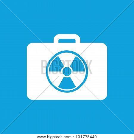 Radioactive bag icon, simple