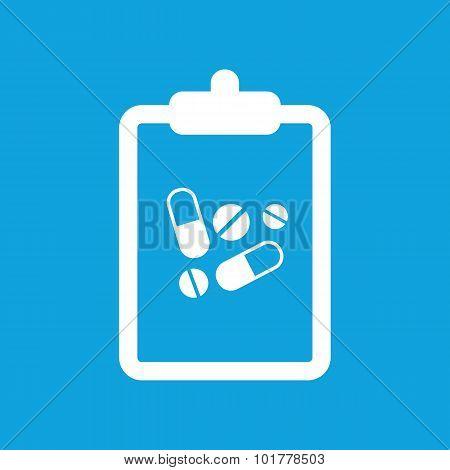 Drug prescription icon, simple