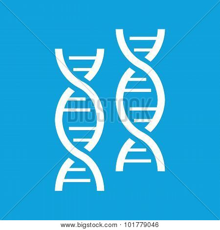 Two DNA icon, simple