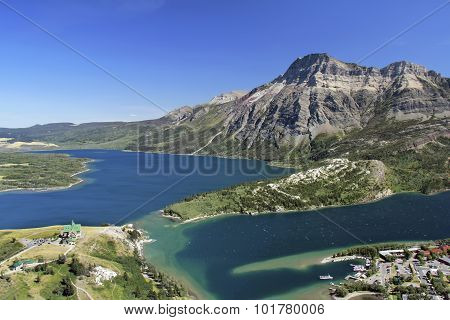 Mountain View Of Waterton Lakes National Park