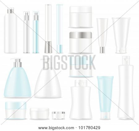 Set of blank cosmetic  tubes