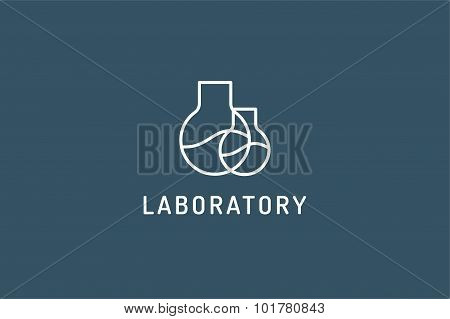Laboratory equipment vector logo