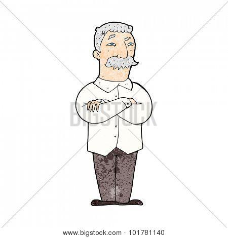 cartoon old man