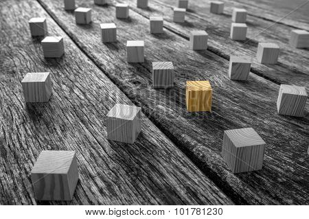 Brown And Gray Wooden Blocks On The Table