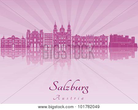 Salzburg Skyline In Purple Radiant Orchid