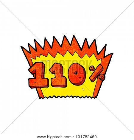 cartoon 110% symbol