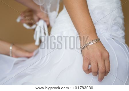 Bride Waiting At Dressing