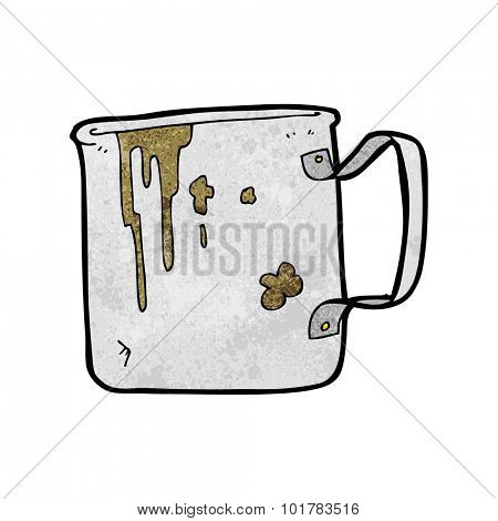 cartoon old tin cup