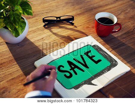 Save Saving Economy Accounting Money Concept