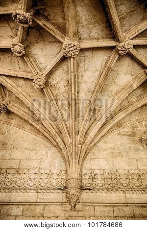Gothic Ceiling With Ribbed Vaulting