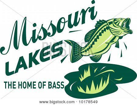 largemouth bass jump missouri lakes