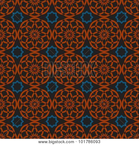 Arabic Traditional Seamless Pattern, Islamic Oriental Ornament, Geometric Symmetry Graphic Design El