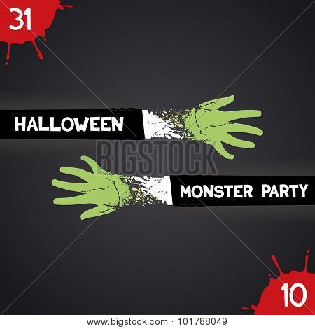 Trendy poster for halloween party