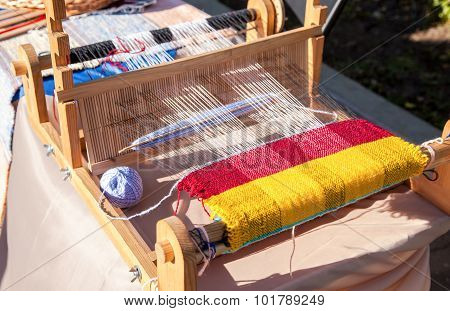 Russian National Crafts. Traditional Homemade Loom