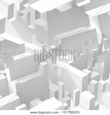 3D Digital Background With Intersected Cubic Forms