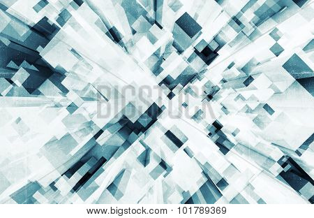 Abstract Digital 3D Background With Cubes