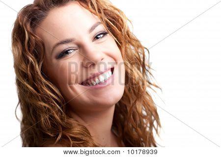 Genuine Smiling Redhead