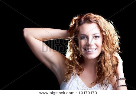 Young Redhead Enjoying Herself