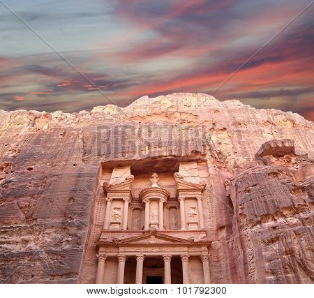 Al Khazneh or The Treasury at Petra Jordan