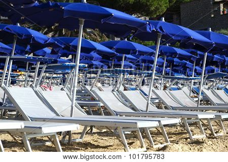 Sun Beds on Beach