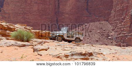 Wadi Rum Desert in southern Jordan 60 km to the east of Aqaba