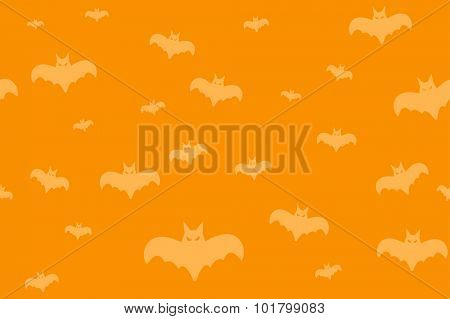Halloween vector background seamless pattern. Bat fly, Halloween symbols. Halloween silhouette for Halloween party design. Halloween seamless background, bat vector