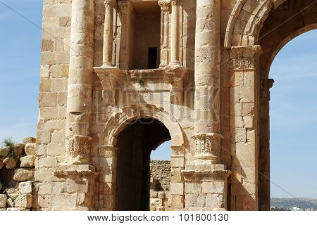 Arch of Hadrian in Jerash Jordan