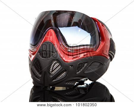 Cool Paintball Mask On Reflective Surface
