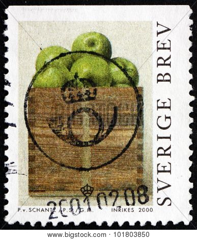 Postage Stamp Sweden 2000 A Peck Of Apples