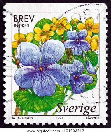 Postage Stamp Sweden 1998 Marsh Violet, Wetland Flowers