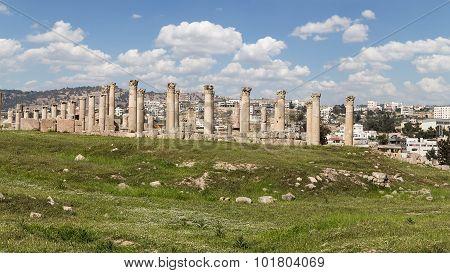 Roman ruins in the Jordanian city of Jerash